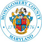 The Montgomery County, Maryland emblem featuring a coat of arms and the year 1776.